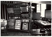 Photo of Experimental Studio of Polish Radio in the early 1960s