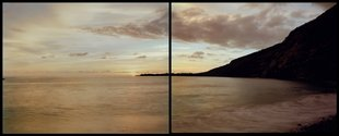 Mark Adams, 8.4.,2002, At Hikiau Heiau, Kealakekua Bay, Hawaii, 2002. Two chromogenic colour prints, each 1200 x 1500 mm