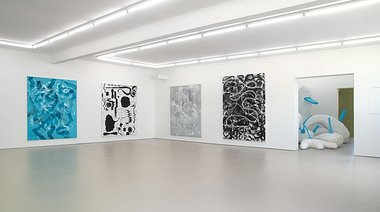 Peter Robinson: Acktion Paintings, 5-8, 2006-2008; Ack (re-Ack) 2006-2013