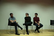 Round table discussion: Joseph D. Flores, Seng Yu Jin, and Simon Soon. Photo: Melissa Laing