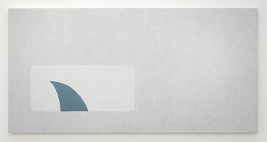Nick Austin, Shark Envelope, 2013, acrylic on canvas, 970 x 1940 mm