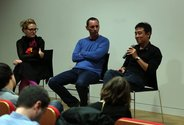Round Table #1: Sarah Farrar, Karl Chitham, Tran Luong. Photo: Melissa Laing