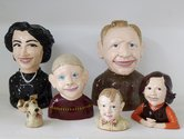 Paul Rayner, Me and My Family, 2013, ceramic