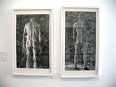 Sam Harrison, Tim, 2012, and Siene, 2012, woodcut on Fabriano