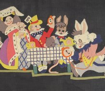 Artist unknown, stitched felt circa 1940s. Part of Stuart Shepherd's collection of folk art displayed at Te Aroha