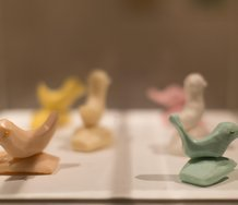Saskia Leek, Untitled Soap Sculptures, 2002, dimensions variable, soap and pins.