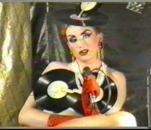 Pirate TV programme. 1989-1991.  Still from PTV episode (Music Pages).  Courtesy of Saint Petersburg Video Archive