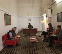 Victoria Singh's The Waiting Room at 123 Cuba St (the site of the old Ferret bookshop)