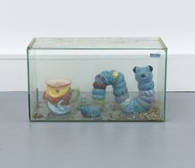 Dan Arps, Worm Tank, 2014. Glass tank, found ceramics and mixed media, 26 x 45 x 20 cm
