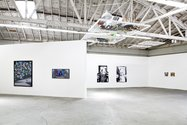 Works by Derek Boshier, Sean Kennedy, Lucie Stahl, and Gina Beavers