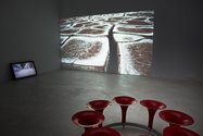 Phil Dadson: Headstamp (Atacama), 2014, single channel video, 7.50 min; Desert Tomb (Atacama), 2014, single channel digital video, 20.38 min; Octet, 2014, eight channel sound sculpture with powder coated 3 inch speakers