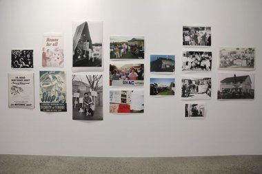 "Sakiko Sugawa's ""This Home is Occupied"" (St Paul St, Gallery One onsite) Detail of wall images.  Photo credit: Tosh Ahkit."