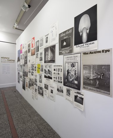 History in the Taking: 40 Years of PhotoForum - installed at Gus Fisher. Curated by Geoffrey H Short and  Nina Seja. Photo by Sam Hartnett.