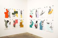 Richard Reddaway, installation of drawings: paint, graphite on paper