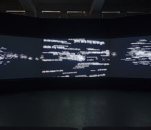 Grant Stevens, Supermassive, 2013, four-channel digital video, 11 min 19 sec.   Photo: Shaun Waugh
