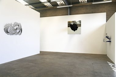 Installation of Neil Dawson at Jonathan Smart