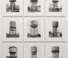 Bernd & Hilla Becher, Water Towers, 1969-1993, 9 black and white photograph. Edition Unique Variable dimensions. Spruth Magers Berlin London