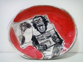 "Sam Mitchell, ""Space Chimp Lives"", 2014.  Ceramic, 25 x 235 x 185mm."