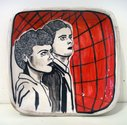 "Sam Mitchell, ""Untitled (Watching Couple)"", 2014.  Ceramic, 40 x 245 x 255mm."