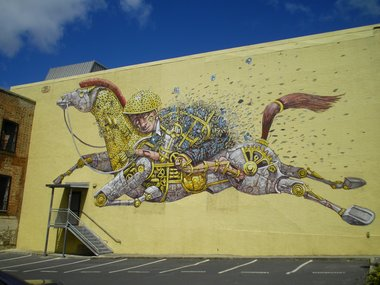 Pixel Pancho, 2014, Princes Street - part of the Dunedin Street Art Festival.