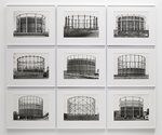 Bernd & Hilla Becher, Gas Tanks, 1973-2009, black and white photographs. Edition Unique, 46 x 56 cm, Spruth Magers Berlin London