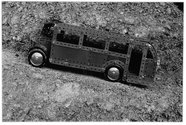 Peter Peryer, The Meccano Bus, 1994, gelatin silver print.  Chartwell Collection, Auckland Art Gallery Toi o Tāmaki, 2000