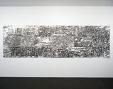 Sarah Treadwell & John Pusateri, Oceanic Foundations: Rising water 1, 2014, hand-printed CNC-routed drypoints & engravings, from polycarbonate plates, on paper