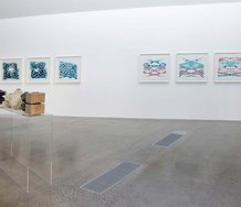 Kathy Barry and Isobel Thom, Homeworld, in Gallery 5, top floor, Te Uru. Photo: Jennifer French