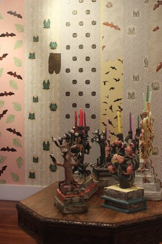 "Tessa Laird, ""House of Bats"", installation shot.  Photo courtesy of Kathryn Tsui."