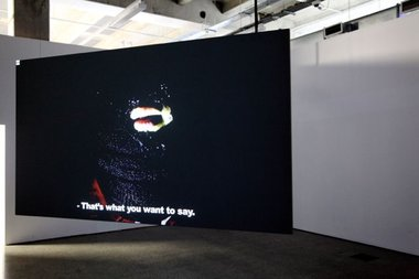 Meiro Koizumi, Death Poem for a City (2013), two channel video installation. Duration: 21 minutes 45 seconds