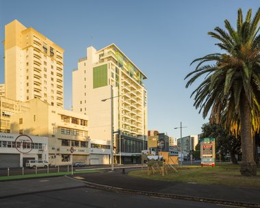 Dieneke Jansen, G.I. Areas A & B, hoardings at 68 Beach Rd, CBD, Auckland