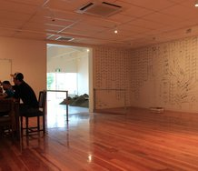 Martin Langdon and Jonathan Jones' Shared Endeavour at Papakura Art Gallery. Image courtesy of Papakura Art Gallery