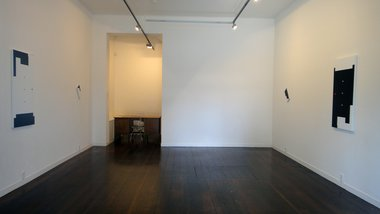 Installation of Billy Apple's Gallery Abstracts 2011 - 2015, at Melanie Roger Gallery