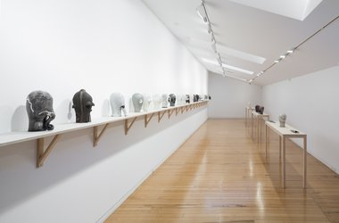 Julia Morison's Headcase as installed upstairs at Two Rooms. Photo: Sam Hartnett