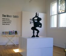 "Super Wairua's installation of The River Goblin ""Te Awa Tupua"" at WHMilbank Gallery"