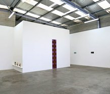 Installation of Stephen Bambury works at Jonathan Smart