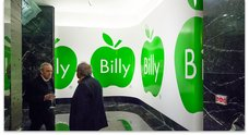 Billy Apple mural in the foyer of Old South British Building. Image courtesy of Starkwhite
