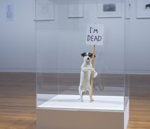 David Shrigley,  I'm Dead 2010  Mixed media.  British Council Collection. Installation view