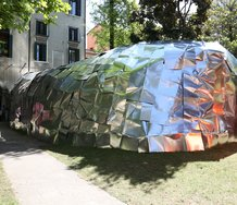 Alois Schild, Nomadic Pavilion. Image courtesy of the 56th Venice Biennale and Nine Dragon Heads