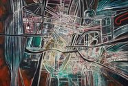 Robert Ellis, Megalopolis, 1966, oil on canvas. Fletcher Trust Collection, Auckland