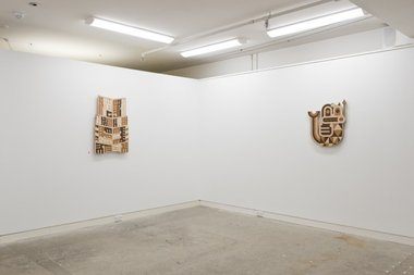 Ngatai Taepa's Tipua as installed at Page Blackie Gallery, Wellington
