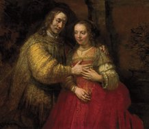 """The Jewish Bride"".  Photo credit: Rembrandt Research Project Foundation and Professor Ernst van de Weterin"