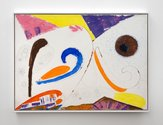 Julian Dashper, Bully 3, 1989, acrylic and pencil on canvas, 600 x 800 mm. Viewable in the office