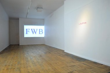 Installation view of Luke Munn's swfer. Left: Code Swishing. Right: iChat. Image courtesy of the artist and Blue Oyster Gallery