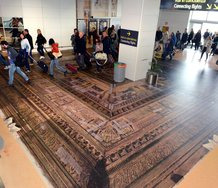 Simon Denny, Secret Power as installed in the Marco Polo Airport in Venice.