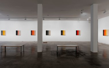 Simon Morris, Colour Order, as installed downstairs at Two Rooms. Photo: Sam Hartnett.