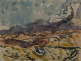 M.T. Woollaston, Pojoaque (near Santa Fe), 1989, watercolour on paper. 255 x 350 mm. Courtesy of Wallace Arts Trust Collection.