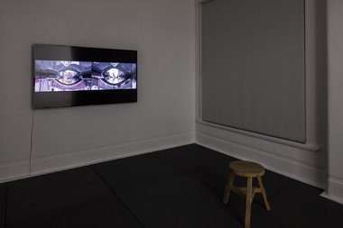 Phil Dadson, Anatomia Sonora da Camera, 2015, single channel video/audio, 18 minutes - as installed at Trish Clark Gallery.