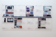 Simon Denny, Freeview Passport: Channel Document NZ presentation, 2012, mixed media, Auckland Art Gallery Toi o Tāmaki purchased 2012