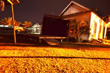 The 'Black Passageway' from Vataulua, outside On the Spot ArtSpace. Photograph by Adam Douglass.